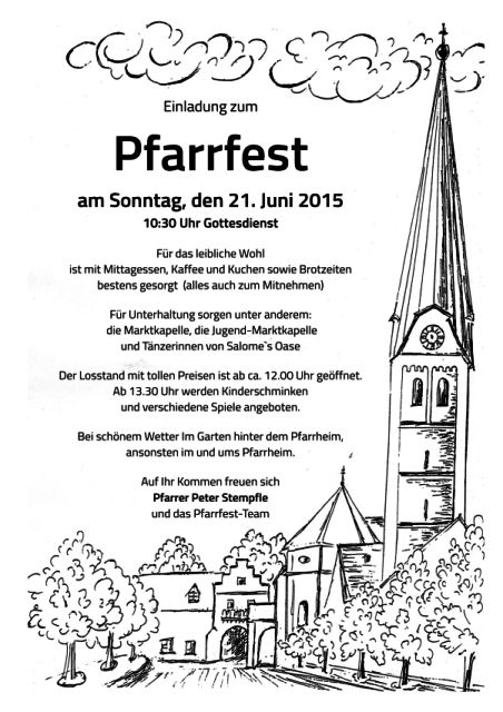 Plakat Pfarrfest